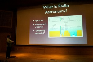 Stacy explains the finer points of radio astronomy