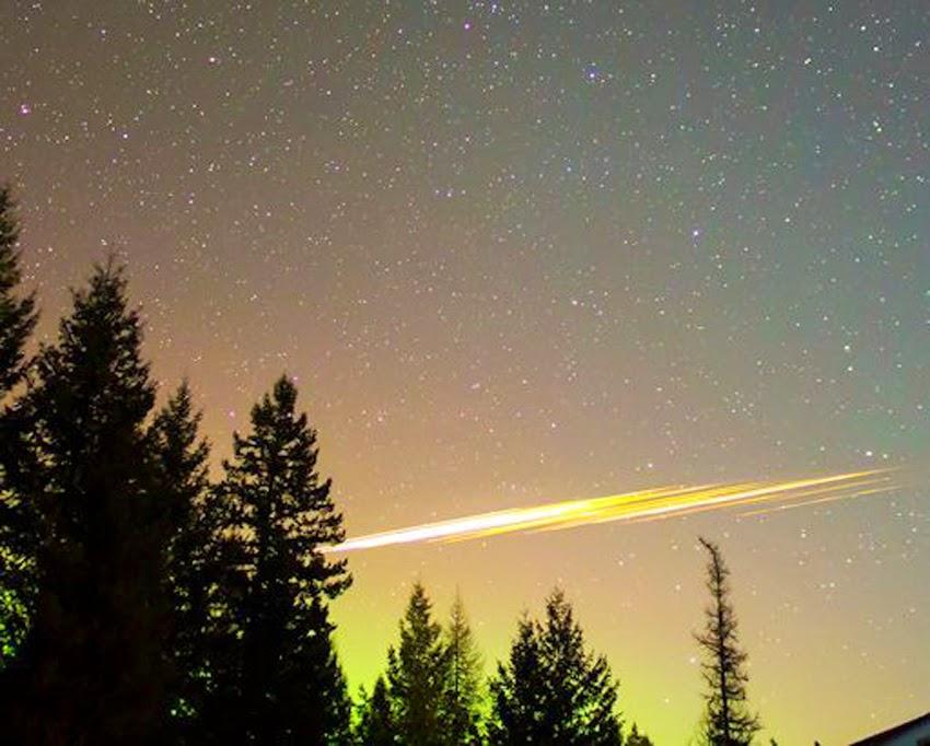 fireball over western Montana 2/23/2015